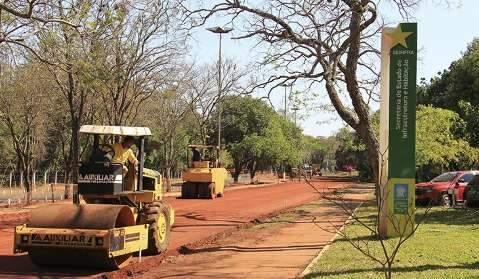 Em obra, pista do Parque dos Poderes é interditada até sexta-feira