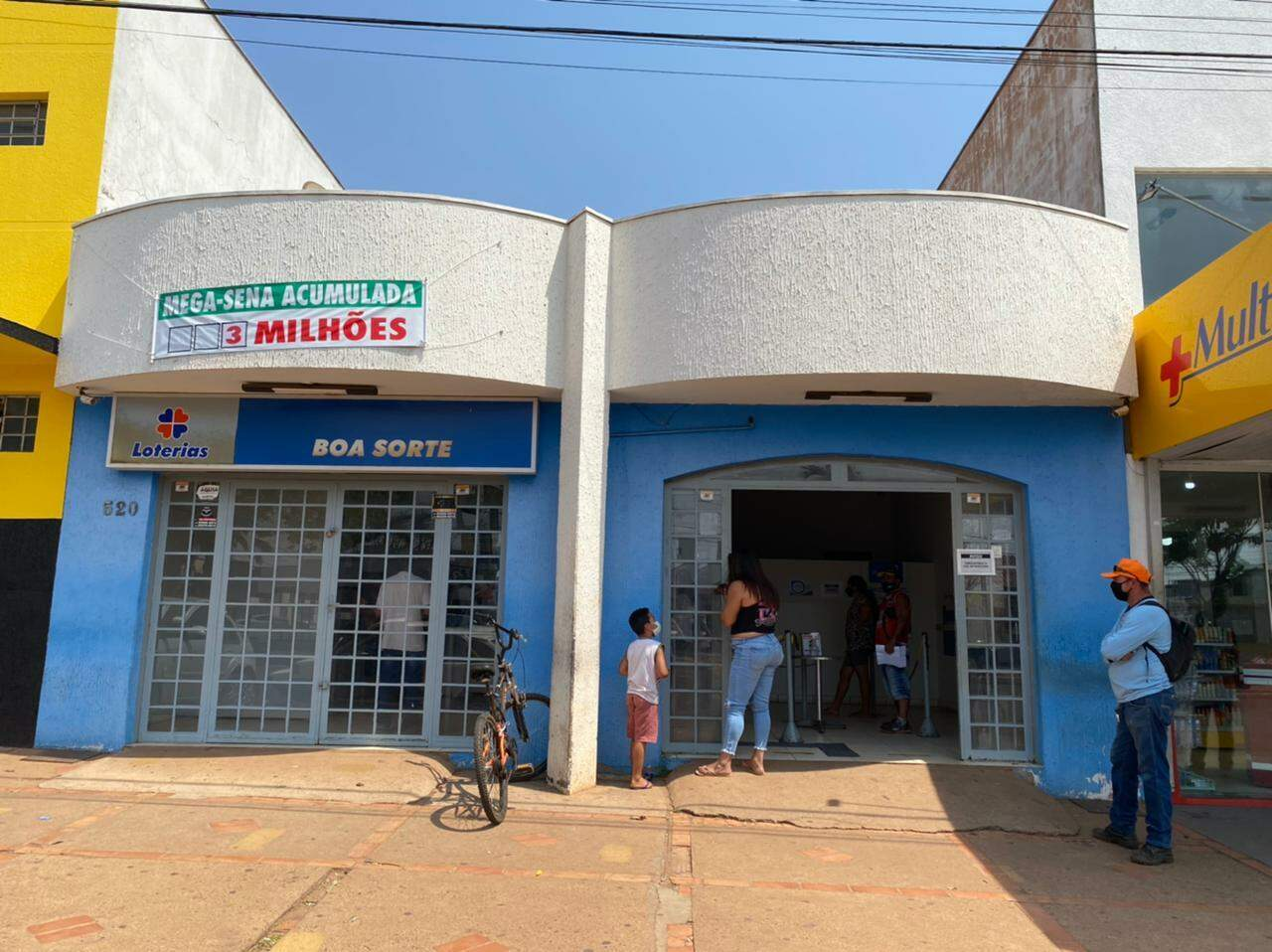 Lotérica Boa Sorte, de onde saiu aposta ganhadora. (Foto: Divulgação/Campo Grande News)