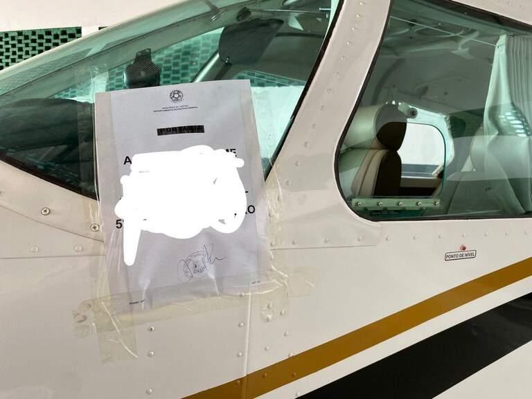 Avião apreendido em operação nesta quarta. (Foto: Divulgação PF)