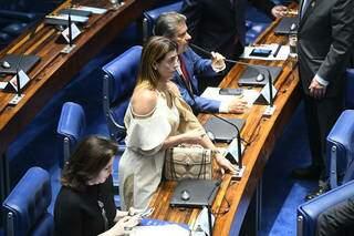 Simone, Soraya e Nelsinho no plenário do Senado em 2019. (Foto: Marcos Oliveira/Agência Senado)