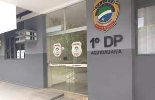 Prédio de delegacia de Aquidauana, onde caso foi registrado. (Foto: Divulgação)