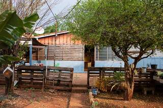 No quintal, tem uma pequena horta, pé de banana, de acerola e de limão. (Foto: Suzana Serviam)
