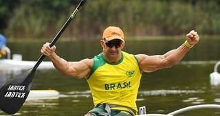 Sul-mato-grossense, Fernando Rufino, garantiu o 1º lugar no mundial de canoagem (Foto: Divulgação)