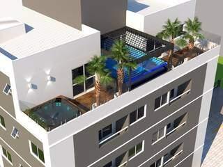 Figura mostra como será cobertura do primeiro prédio de Ribas do Rio Pardo. (Foto: Reprodução)