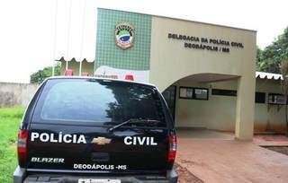 Polícia Civil de Deodápolis, que investiga o caso. (Foto: Divulgação)