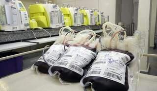 Estoques de pelo menos três tipos de sangue estão baixos no Hemosul. (Foto: Divulgação)