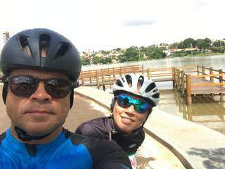 Casal costumava andar de bicicleta juntos e caminhar no parque. (Foto: Arquivo Pessoal)