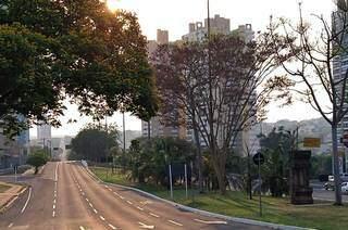 Avenida Afonso Pena, em Campo Grande. (Foto: Paulo Francis)