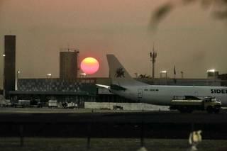 Pôr do sol em dia de calor intenso no Estado. (Foto: Marcos Maluf)