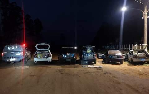 Contrabandistas são presos em comboio com R$ 1 milhão em produtos do Paraguai
