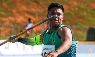 Yuri Moreira Benites, atleta sub-18 da Escola Municipal Polo Indígena Mbo'eroy Guarani Kaiowá, de Amambai. (Foto: Wagner Carmo/CBAt)