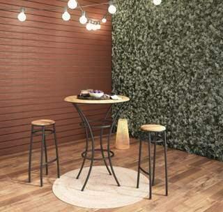 Banqueta Aço Alta Viracopos também entra em promoção. (Foto: Reprodução Site www.leroymerlin.com.br)