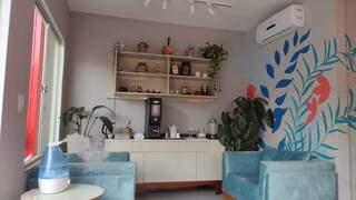 Recepção da oficina foi feita para conforto da mulherada, com opções até de café gourmet. (Foto: Arquivo Pessoal)