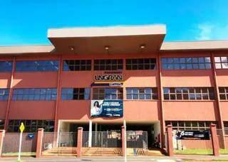 Fachada do prédio da Unigran em Campo Grande. (Foto: Divulgação)