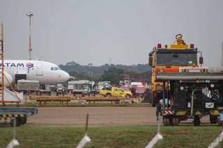Remessa que desembarcou em junho no aeroporto de Campo Grande. (Foto: Arquivo)