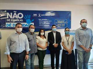 Autoridades da Capital durante lançamento da campanha. (Foto: Caroline Maldonado)