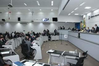 Vereadores durante sessão da Câmara Municipal da Capital. (Foto: Divulgação)
