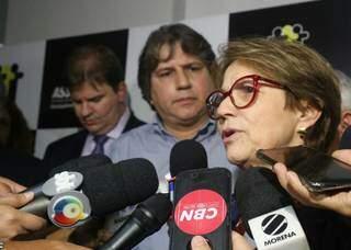 Ministra Tereza Cristina, em evento realizado antes da pandemia, em Campo Grande. (Foto: Paulo Francis/Arquivo)