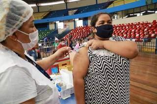 Havila deixou vacina para última hora devido a correria do trabalho. (Foto: Kísie Ainoã)