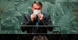 Depois de contato com membros da comitiva presidencial na ONU com covid-19, Jair Bolsonaro (sem partido) fará teste neste fim de semana. (Foto: AFP)