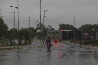 Chuva moderada caindo em Mato Grosso do Sul (Foto: Paulo Francis/Arquivo)
