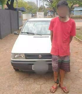 Veículo foi recuperado e o autor do furto preso em flagrante. (Foto: Direto das Ruas)