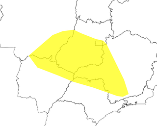 Alerta diz respeito sobre região mais ao norte de Mato Grosso do Sul. (Foto: Reprodução/Inmet)