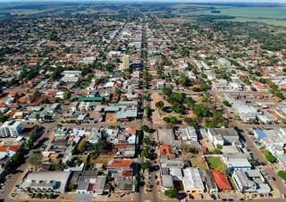 Vista aérea de Amambai, município de MS localizado na fronteira do Brasil com o Paraguai. (Foto: Sindicato Rural)
