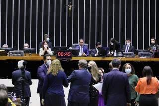 Sessão na Câmara nesta segunda-feira (28). (Foto: Reprodução/AgênciaCâmara)