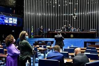 Sessão do Congresso nesta segunda-feira (27). (Foto: Waldemir Barreto/Agência Senado)