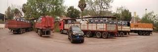 Os cinco veículos foram apreendidos pela Polícia Federal. (Foto: Divulgação)