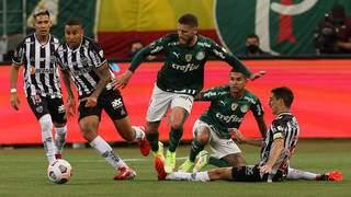 Disputa entre Palmeiras e Atlético válida pelo jogo de ida das semifinais na Arena Allianz Parque. (Foto: Cesar Greco)