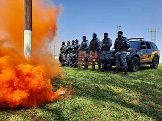 Guardas civis metropolitanos durante a inauguração do GPI. (Foto: Caroline Maldonado)