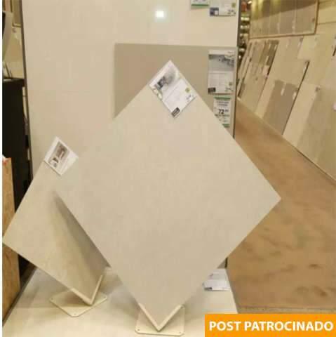 Estoque de porcelanato à pronta-entrega é na Leroy Merlin, a partir de 49,90 m²