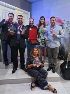 Roberto Peres, Luiz Gomes, Cleberson Costa, Caroline de Souza, José Carlos Castro e Alessandra Soares (Foto: Divulgação)