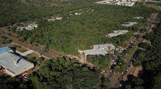 Vista aérea do Parque dos Poderes: TJ receberá maior volume de recursos. (Foto: Chico Ribeiro/Subcom-MS)