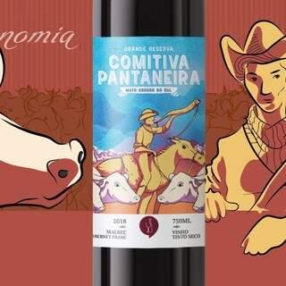 Um dos vinhos criados pela 067 Vinhos, que homenageia Mato Grosso do Sul. (Foto: Reprodução Facebook)