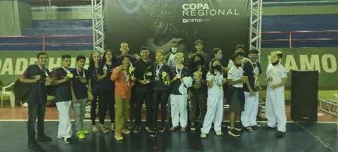 Delegação de MS fatura 18 medalhas na Copa Regional de Taekwondo