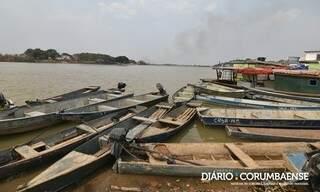 Margens do Rio Paraguai, em Ladário, indicam situações ambientais vividas no Pantanal. (Foto: Reprodução/Diário Corumbaense)