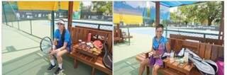 Conterrâneas Keterly Verão e Thaysa Passos durante partida de tênis (Foto: Divulgação)