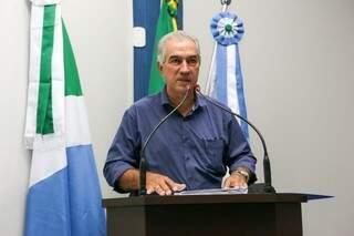Governador do Estado, Reinaldo Azambuja. (Foto: Géssica Souza/Maracaju em Foco)