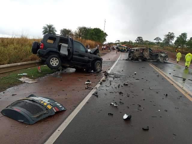 Única morte em estradas de MS durante feriadão envolveu viatura da PRF