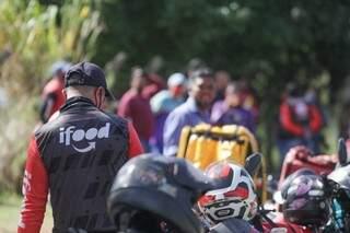 Entregadores em um dos protestos feitos por melhores condições de trabalho. (Foto: Marcos Maluf/Arquivo)