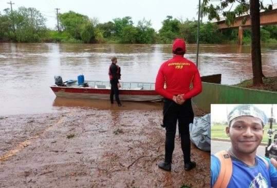 Após 5 dias, bombeiros encontram corpo de rapaz que se afogou no Rio Amambaí
