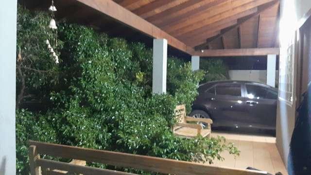 Árvores caem e destróem muro, portão e dois veículos de família na Vila Alba
