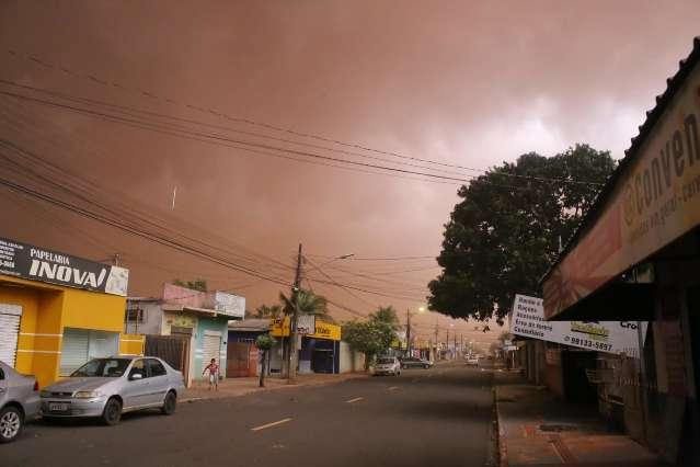 Tempestade de areia atingiu sete municípios de Mato Grosso do Sul