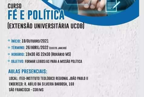 Arquidiocese de Campo Grande oferece curso de formação para a missão política