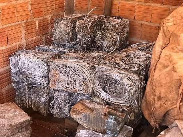 Operação conjunta apreende 500 kg de fios de cobre avaliados em R$ 100 mil