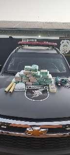 Trio é preso pelo Choque no Santa Luzia com cocaína avaliada em R$ 605 mil