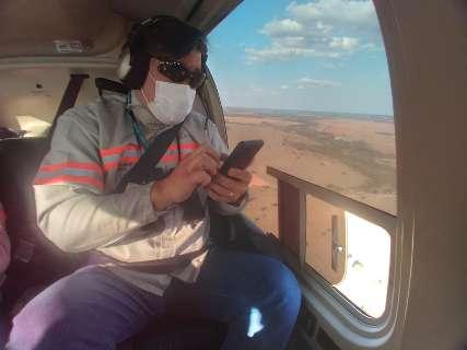 Energisa usa helicóptero para identificar pontos de reparo na zona rural